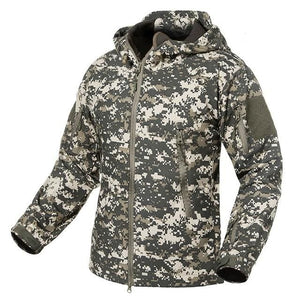 S.ARCHON New Soft Shell Military Camouflage Jackets Men Hooded Waterproof Tactical Fleece Jacket