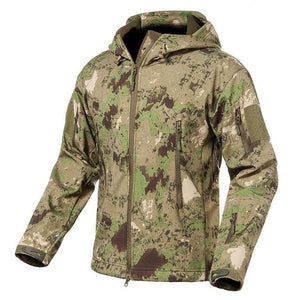 S.ARCHON New Soft Shell Military Camouflage Jackets Men Hooded Waterproof Tactical Fleece Jacket - MBMCITY