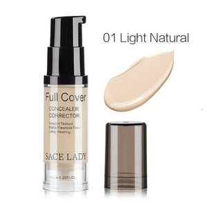 SACE LADY Face Concealer Cream Full Cover Makeup Liquid Corrector Foundation Base Make Up For Eye 03 Natural