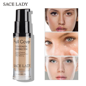 SACE LADY Face Concealer Cream Full Cover Makeup Liquid Corrector Foundation Base Make Up For Eye
