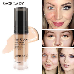 SACE LADY Full Cover 5 Colors Liquid Concealer Makeup 6ml Eye Dark Circles Cream Face Corrector.