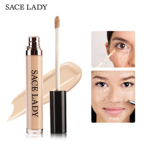 SACE LADY Full Cover Pro Makeup Concealer Cream Face Corrector Liquid Make Up Base For Eye Dark