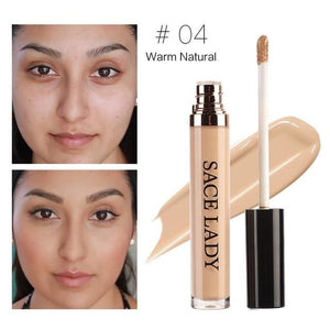 Sace Lady Full Cover Pro Makeup Concealer Cream Face Corrector Liquid Make Up Base For Eye Dark 03 Natural
