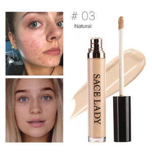 Sace Lady Full Cover Pro Makeup Concealer Cream Face Corrector Liquid Make Up Base For Eye Dark 05 Honey