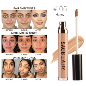 SACE LADY Full Cover Pro Makeup Concealer Cream Face Corrector Liquid Make Up Base For Eye Dark.