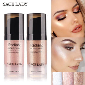 SACE LADY Liquid Highlighter Face Makeup Illuminator Glow Kit Make Up Brighten Shimmer Cream Facial