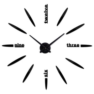 Sale New Wall Clock Clocks Watch Stickers Diy 3d Acrylic Mirror Home Decoration Quartz Black / 47inch
