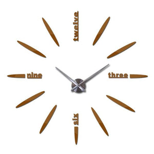 Sale New Wall Clock Clocks Watch Stickers Diy 3d Acrylic Mirror Home Decoration Quartz Chocolate / 47inch