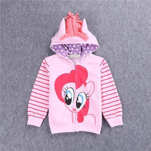 SAMGAMI BABY 2017 New Fashion Jacket Kids Clothes My Pony Girls Coat, Hoodies, Baby Girl Cotton