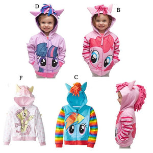 SAMGAMI BABY 2017 New Fashion Jacket Kids Clothes My Pony Girls Coat, Hoodies, Baby Girl Cotton - MBMCITY