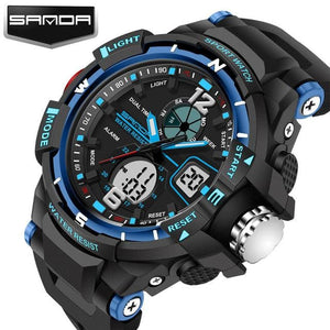 Sanda Sport Watch Men 2018 Clock Male Led Digital Quartz Wrist Watches Mens Top Brand Luxury Blue