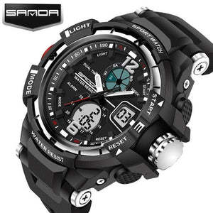 Sanda Sport Watch Men 2018 Clock Male Led Digital Quartz Wrist Watches Mens Top Brand Luxury Silver