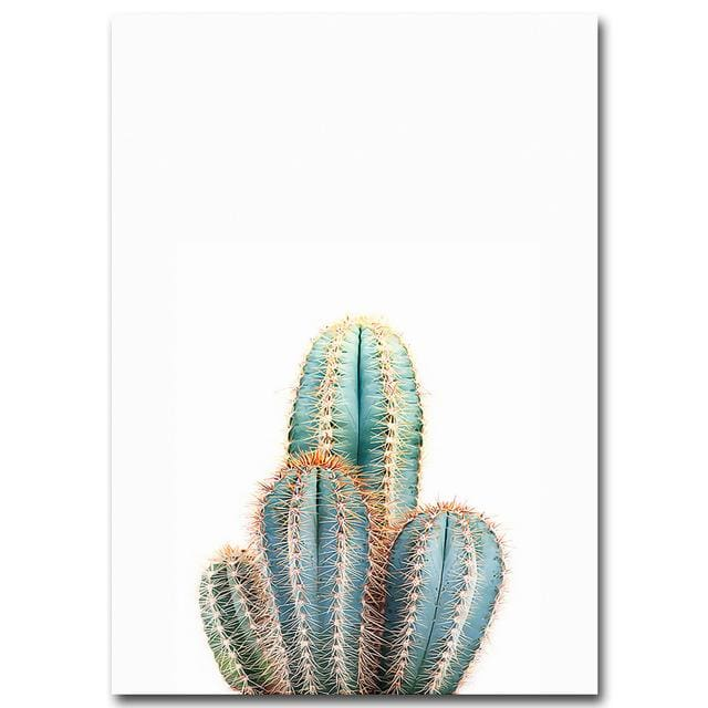Sea Sunset Motivational Poster Quote Print Nodic Style Wall Art Canvas Painting Cactus Picture Room 13X18Cm No Frame / Picture 2