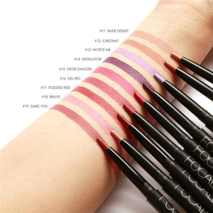 Sexy Red Lip Liner Pencils Waterproof Lip Pencil Long Lasting Pigments Nude Color Focallure Brand
