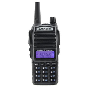 Shipping From Moscow!!! Black Baofeng Uv-82 Walkie Talkie 5W 10Km 136-174Mhz & 400-520Mhz Two Way China / Uv82