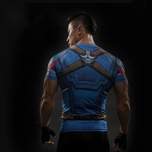 Short Sleeve 3D T Shirt Men T-Shirt Male Crossfit Tee Captain America Superman Tshirt Men Fitness 5 / S