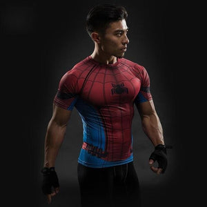 Short Sleeve 3D T Shirt Men T-Shirt Male Crossfit Tee Captain America Superman Tshirt Men Fitness 12 / S