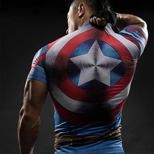 Short Sleeve 3D T Shirt Men T-Shirt Male Crossfit Tee Captain America Superman Tshirt Men Fitness 10 / S