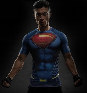Short Sleeve 3D T Shirt Men T-Shirt Male Crossfit Tee Captain America Superman Tshirt Men Fitness 4 / S
