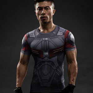 Short Sleeve 3D T Shirt Men T-Shirt Male Crossfit Tee Captain America Superman Tshirt Men Fitness 13 / S