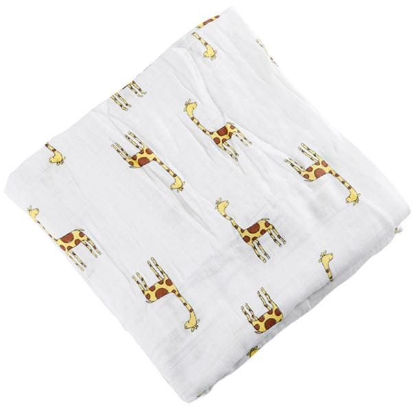 [Simfamily] 1Pc Muslin 100% Cotton Baby Swaddles Soft Newborn Blankets Black White Gauze Infant Wrap No4