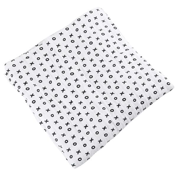 [Simfamily] 1Pc Muslin 100% Cotton Baby Swaddles Soft Newborn Blankets Black White Gauze Infant Wrap No2