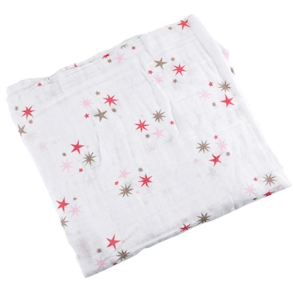 [Simfamily] 1Pc Muslin 100% Cotton Baby Swaddles Soft Newborn Blankets Black White Gauze Infant Wrap No10