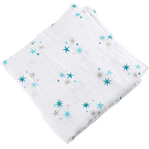 [Simfamily] 1Pc Muslin 100% Cotton Baby Swaddles Soft Newborn Blankets Black White Gauze Infant Wrap No5