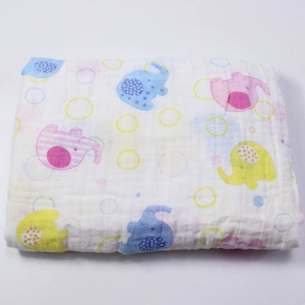 [Simfamily] 1Pc Muslin 100% Cotton Baby Swaddles Soft Newborn Blankets Black White Gauze Infant Wrap No14