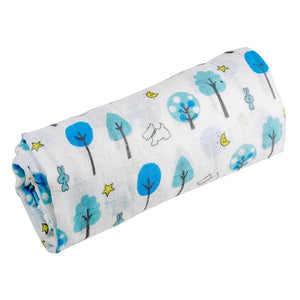[Simfamily] 1Pc Muslin 100% Cotton Baby Swaddles Soft Newborn Blankets Black White Gauze Infant Wrap No25