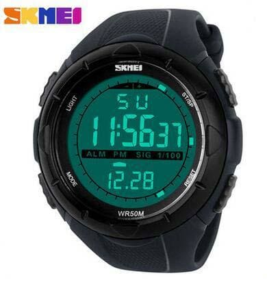 Skmei Brand 1025 Led Digital Mens Military Watch Men Sports Watches 5Atm Swim Climbing Fashion Gray