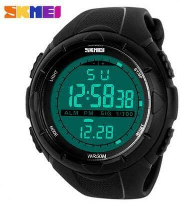 Skmei Brand 1025 Led Digital Mens Military Watch Men Sports Watches 5Atm Swim Climbing Fashion Black