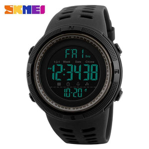 Skmei Chronograph Sports Watches Men Double Time Countdown Led Digital Watch Military Waterproof