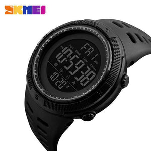 Skmei Chronograph Sports Watches Men Double Time Countdown Led Digital Watch Military Waterproof Black Black
