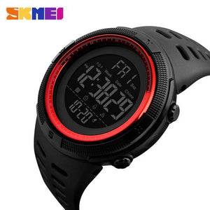 Skmei Chronograph Sports Watches Men Double Time Countdown Led Digital Watch Military Waterproof Black Red
