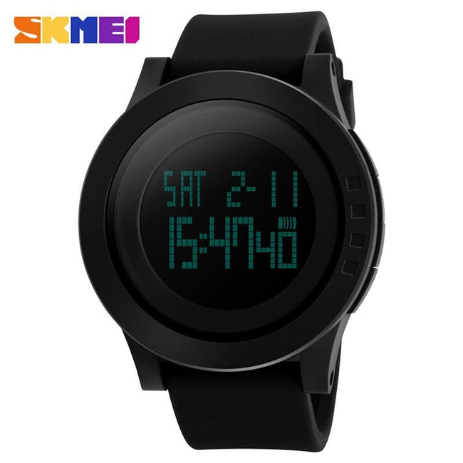 SKMEI Large Dial Outdoor Men Sports Watches LED Digital Wristwatches Waterproof Alarm Chrono - MBMCITY