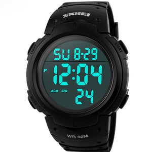 Skmei Luxury Brand Mens Sports Watches Dive 50m Digital LED Military Watch Men Fashion Casual.