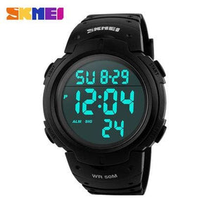 Skmei Luxury Brand Mens Sports Watches Dive 50M Digital Led Military Watch Men Fashion Casual Black Red