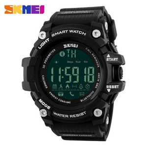 SKMEI Men Smart Watch Pedometer Calories Chronograph Fashion Outdoor Sports Watches 50M Waterproof - MBMCITY