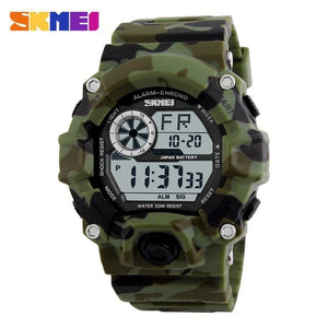 SKMEI Military Sports Watches Men Alarm 50M Waterproof Watch LED Back Light Shock Digital.