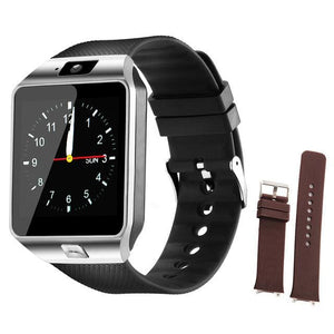 Smart Watches dz09 Sports Passometer Support SIM Card Fashion Smart Watch dz09 Battery for Android Black gray