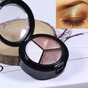 Smoky Cosmetic Set 3 Colors Professional Natural Matte Makeup Eye Shadow 2Jan14 D