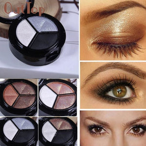 Smoky Cosmetic Set 3 Colors Professional Natural Matte Makeup Eye Shadow 2Jan14