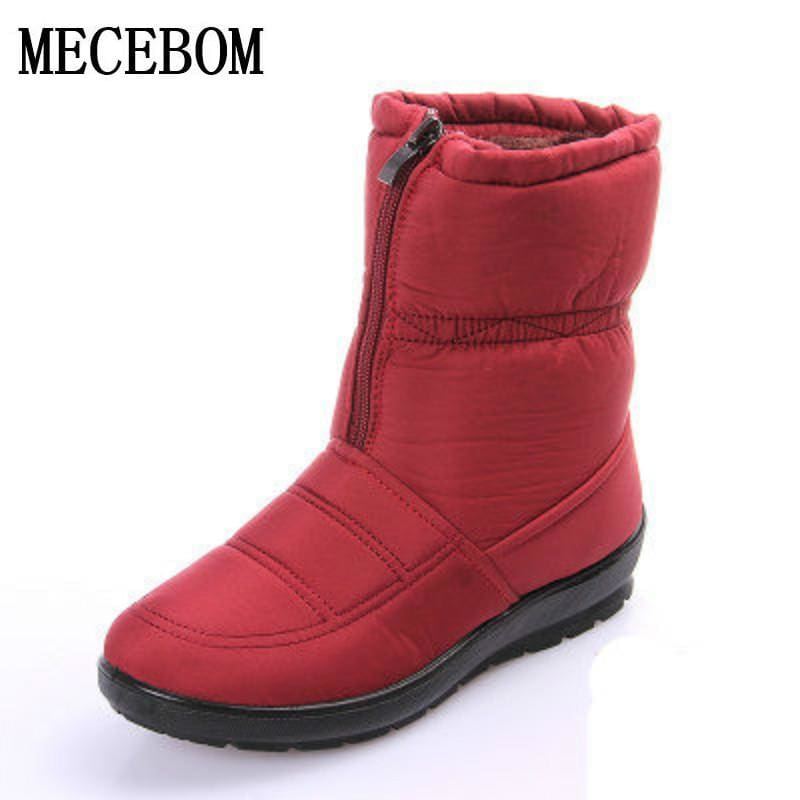 snow boots 2018 Winter warm waterproof women boots mother shoes casual cotton winter autumn boots