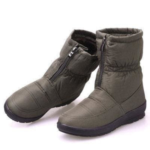 snow boots 2018 Winter warm waterproof women boots mother shoes casual cotton winter autumn boots CF1308W green / 8.5