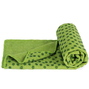 Soft Travel Sport Fitness Exercise Yoga Pilates Mat Cover Towel Blanket Non-Slip Sports Towel Green