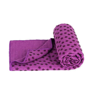 Soft Travel Sport Fitness Exercise Yoga Pilates Mat Cover Towel Blanket Non-Slip Sports Towel Purple