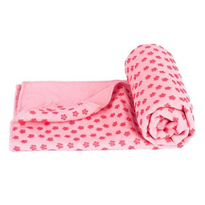 Soft Travel Sport Fitness Exercise Yoga Pilates Mat Cover Towel Blanket Non-Slip Sports Towel Pink