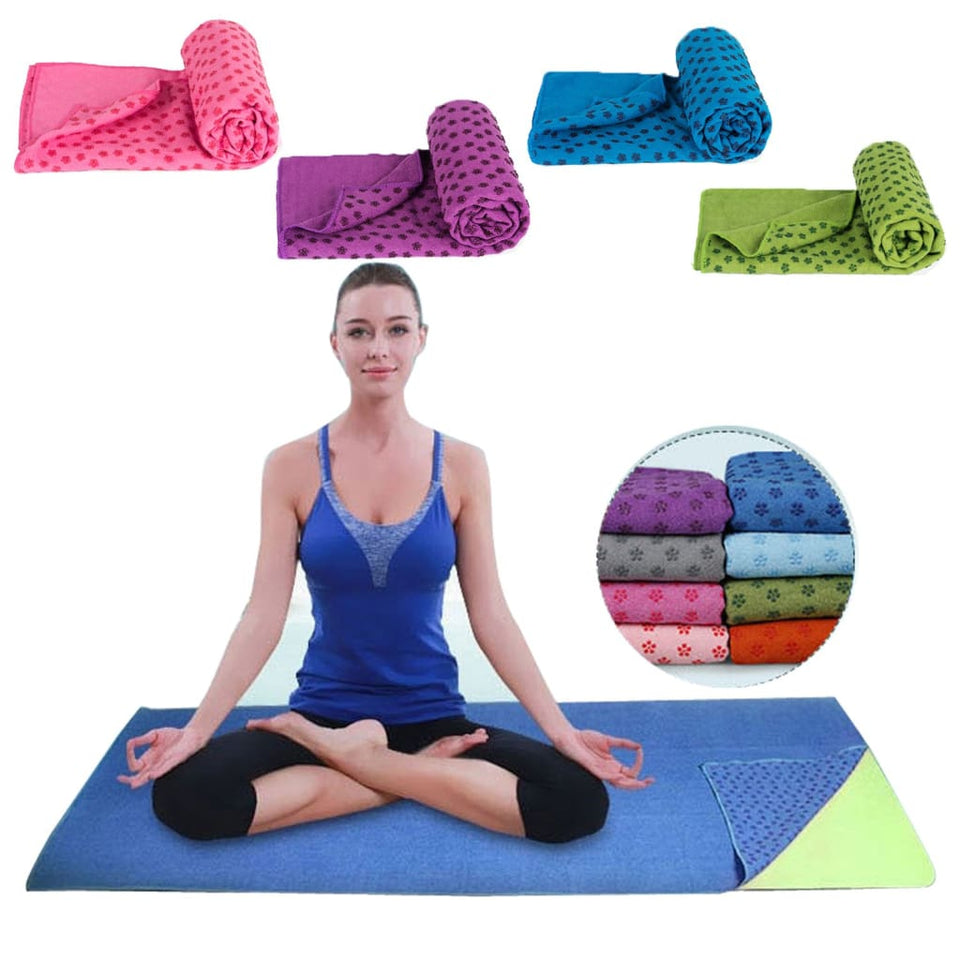 Soft Travel Sport Fitness Exercise Yoga Pilates Mat Cover Towel Blanket Non-Slip Sports Towel