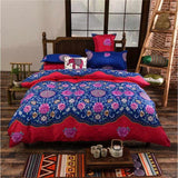 Sookie Full/Queen/King Size Bedding Sets Bohemian Style Reversible 4pcs Duvet Cover Sets Pillowcases - MBMCITY